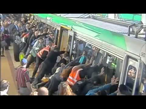 Train rescue: People power frees man trapped against platform at Perth's Stirling station