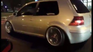 vw golf 4 1 9 tdi ahf straight pipe 3sdm stance
