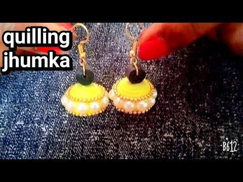 Quilling jhumka/Quilling earrings/diy/handmade earrings