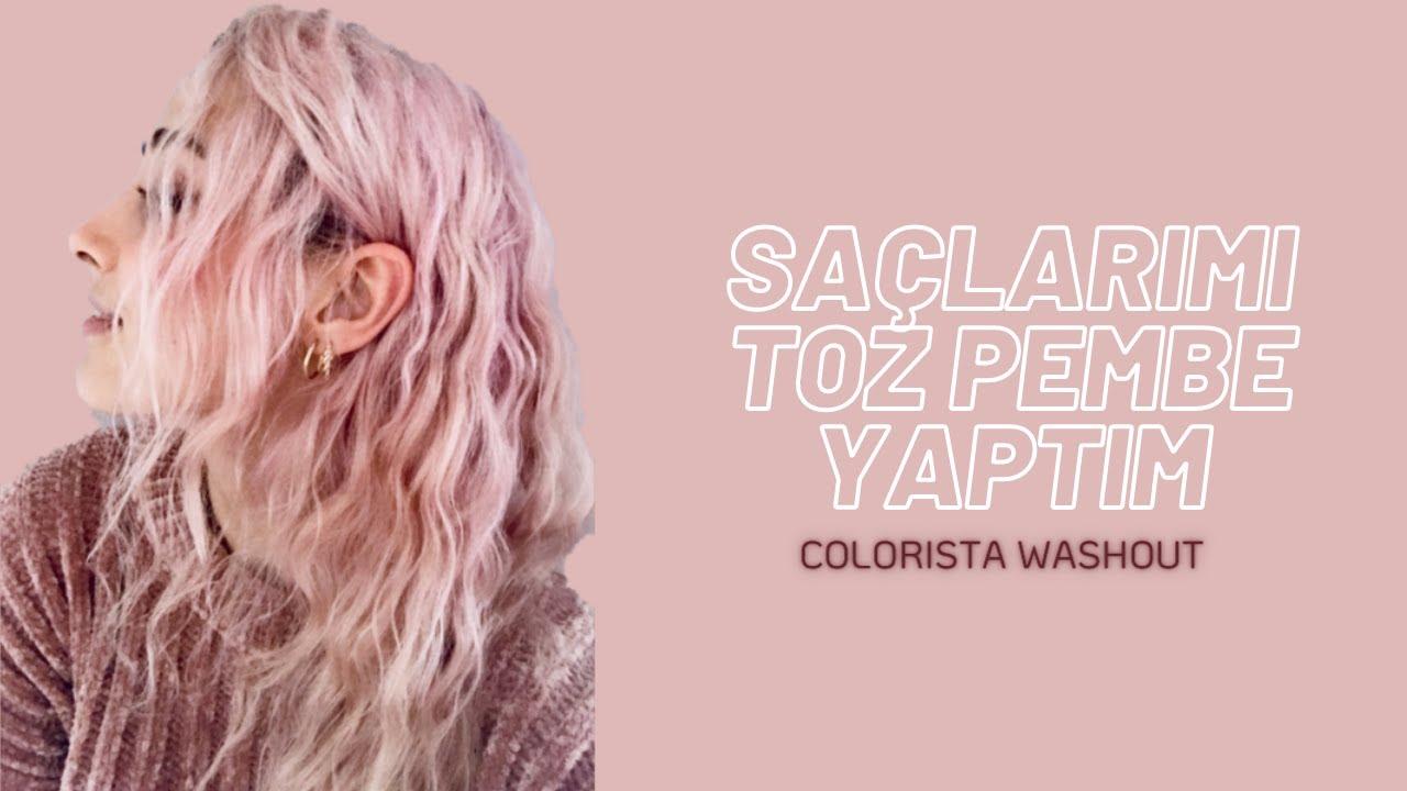Evde Saç Boyama | Pembe Saç, Loreal COLORISTA Hot Pink Geçici boya