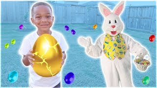 Dj Pretend Play Easter Huge Surprise Eggs Hunt And Open Toys