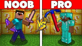 Minecraft Battle: NOOB vs PRO : LUCKY BLOCK BATTLE Challenge in Minecraft Animation