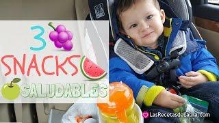 3 Snack Saludables para niños 🍉 Fácil y Rápido 🍞🍐  Lunch para escuela o cole