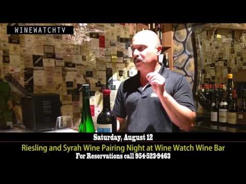 Riesling and Syrah Wine Pairing Night at Wine Watch Wine Bar - click image for video