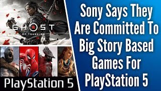 Sony Says They Are Committed To Big Story Driven Games For PS5 // Ghost Of Tsushima TGA Trailer