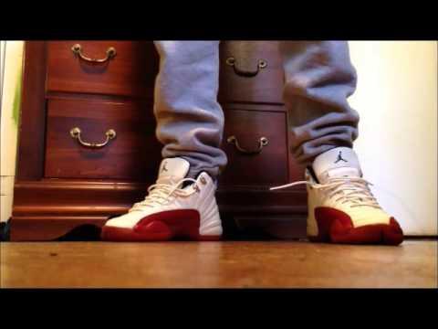 sports shoes 9bf4f 61ec5 jordan cherry 12 on feet