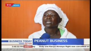 Women earning a living from peanut butter business