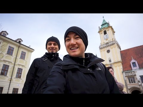 WELCOME TO SLOVAKIA | our first day in Bratislava | minimalist travel