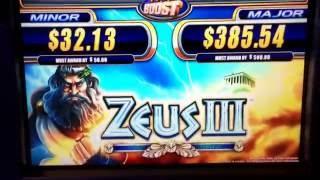 HUGE $1676,00 WIN ZEUS III ATLANTIS CASINO SLOT MACHINE LIVE PLAY BONUS JACKPOT $4.00 MAX BET