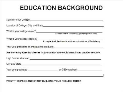 Need Resume Outline. resume work history functional resume outline ...