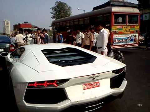 Lamborghini Aventador In Mumbai Youtube