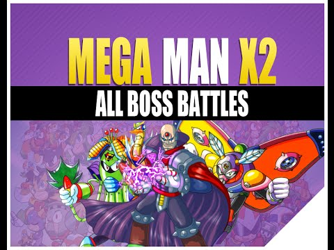 Megaman X2 Boss Rush | Boss Weakness (All Theme Intro Music)