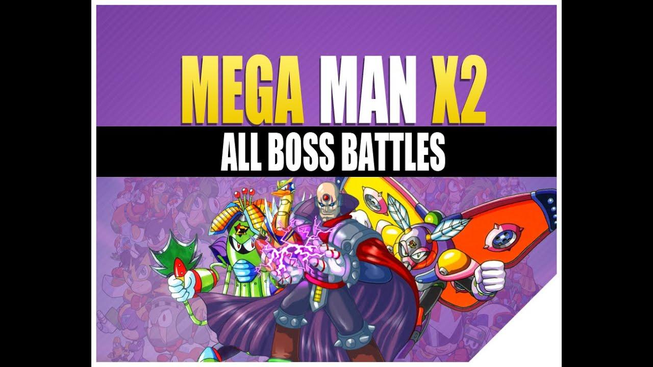 megaman x2 boss rush boss weakness all theme intro music
