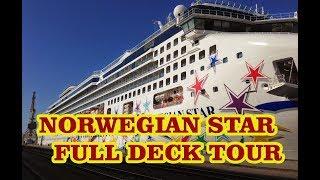 Norwegian Star full deck tour