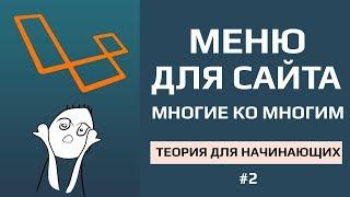 Laravel категории или меню для сайта отношение многие ко многим | общая теория!!! #2
