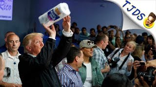 Trump Throws Paper Towels At Puerto Rican Victims