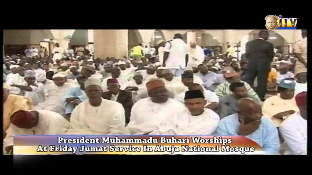 President Muhammadu Buhari Worships At Friday Jumat Service In Abuja National Mosque