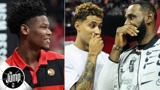 Cam Reddish signs with Nike, Kyle Kuzma under pressure to be part of Lakers' 'Big 3'? | The Jump