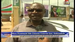 Prominent Edo citizens criticize Gov. Oshiomhole over utterances against Esama of Benin