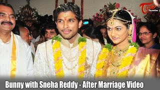 Bunny with Sneha Reddy After Marriage Video