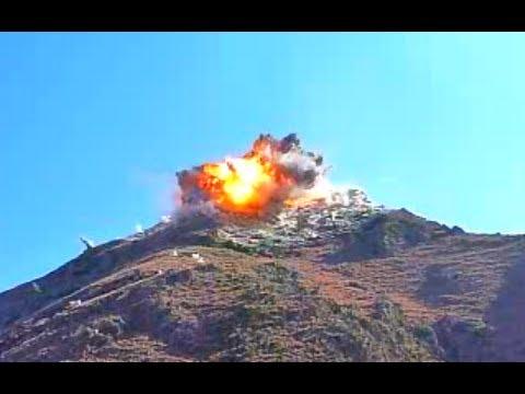 HUGE JDAM BOMB STRIKES TALIBAN POSITION