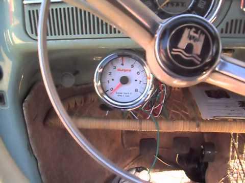 Rpm Tach Wiring Tachcometer Installation Part 1 64 Vw Bug Youtube