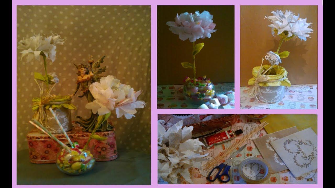Diy cr ation de fleurs en serviettes en papier facile youtube - Creation en papier facile ...