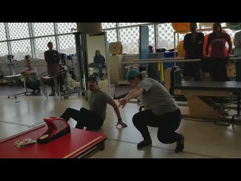 Former paraplegic dances with therapist