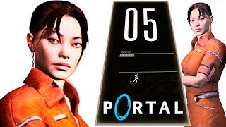 Portal 1 05. Полное прохождение игры как проходить Портал 1 глава 2 Камера испытаний 05