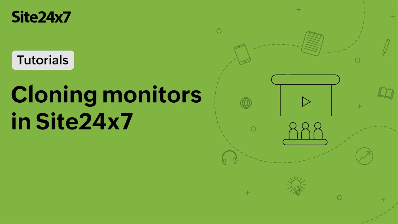 Clone monitors with the same configuration using the Site24x7 Clone option