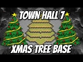 Town hall 9 Xmas tree design base | clash of clans | farming base | lastest update | 2017