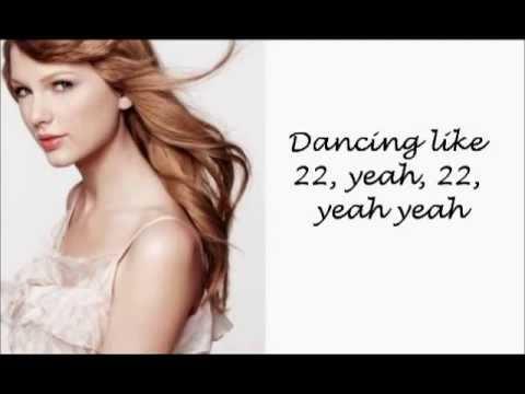 Taylor Swift 22 with Lyrics