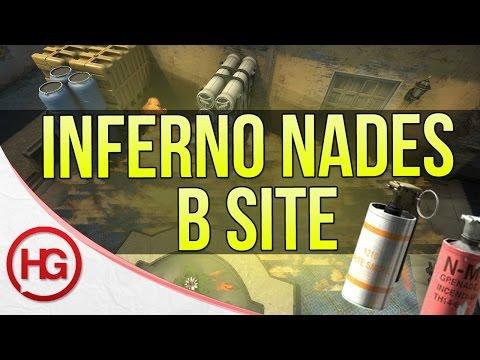 New Inferno B Site Smokes, Molotovs and Flashes (CS:GO)