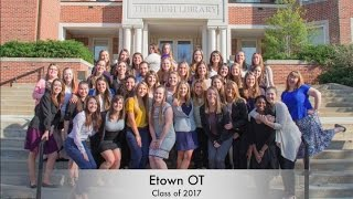 Elizabethtown College Occupational Therapy Class of 2017