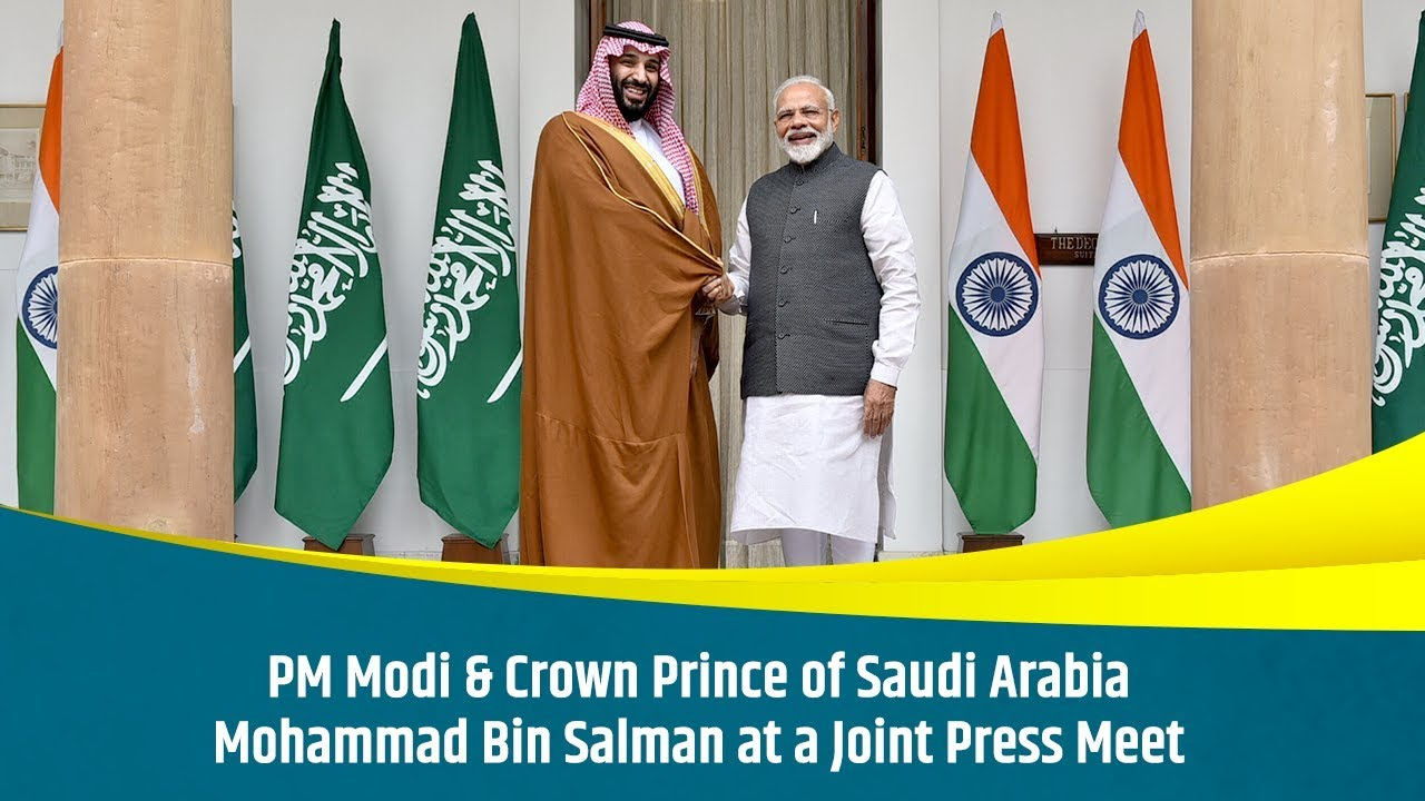 cd1fb4e579 PM Modi & Crown Prince of Saudi Arabia Mohammad Bin Salman at a ...