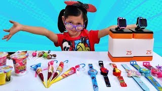 DRAMA Penjual Jam Tangan Pasar Malam   Jualan imoo Watch Phone Z5 Lucu Berhadian Jajanan Anak