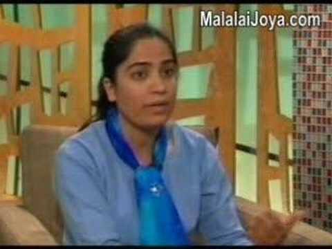 Malalai Joya being interviewed on Ten TV Channel