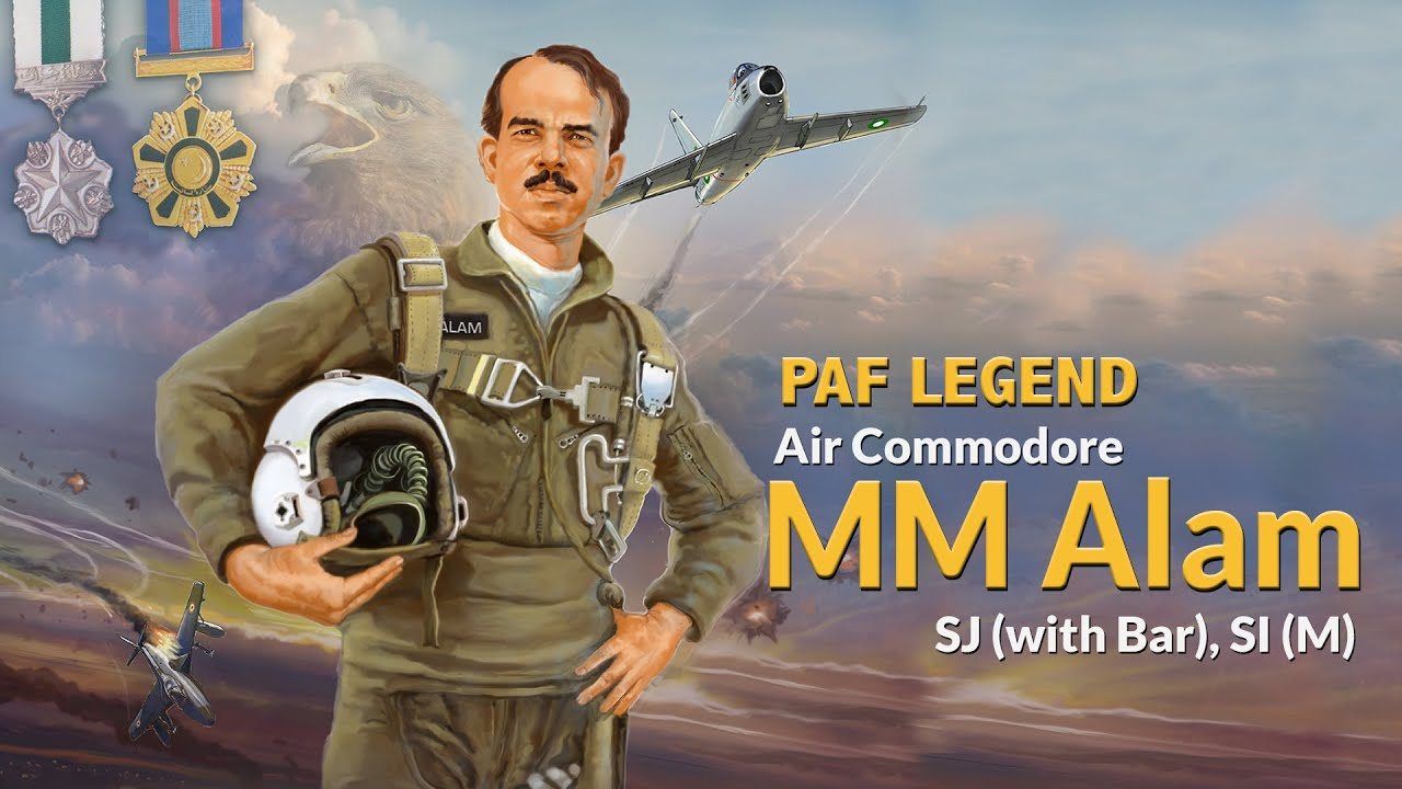 The 'ACE PILOT' of PAF - Air Cdre MM Alam SJ (with bar), SI(M) | PAF Heroes