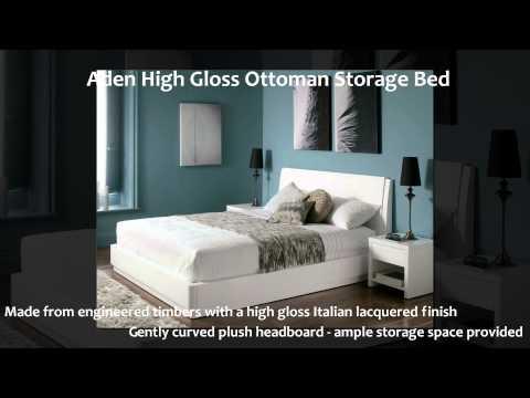 Aden White Ottoman Storage Bed