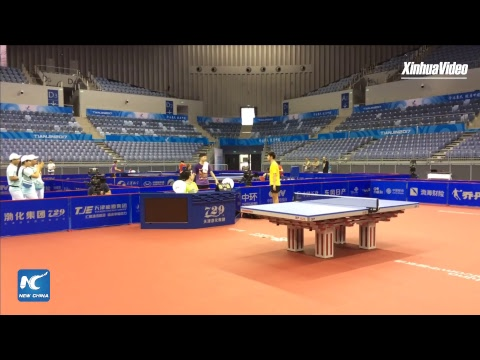 LIVE: China's table tennis Olympic champion Ma Long training in Tianjin