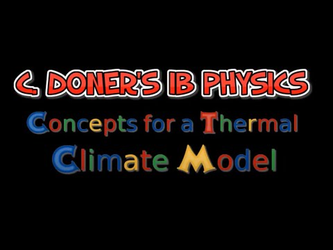 IB Physics: Concepts for a Thermal Climate Model