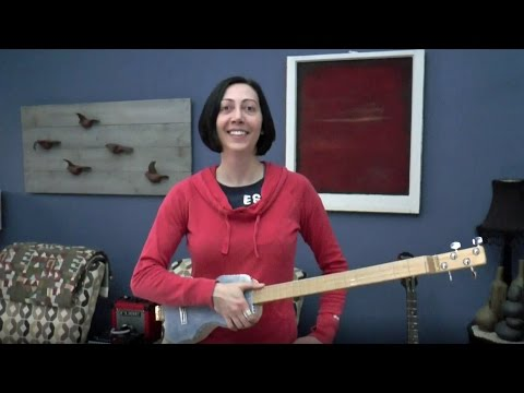 How to Play Money For Nothing on CBG Cigar Box Guitar