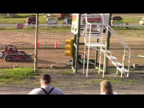 Hummingbird Speedway (6-8-19): Young Gun Jr Sprint Heat Race #1 - Open Class