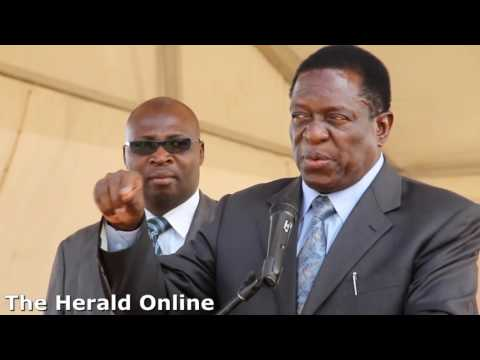 Vice President Emmerson Mnangagwa at a star rally in Norton