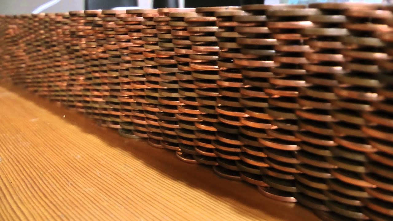 Small canadian penny wall youtube for How to make a penny wall