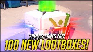 100x OVERWATCH SUMMER GAMES 2017 LOOT BOX OPENING | Overwatch New 2017 Summer Games Update