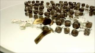 Square Onyx Beads Rosary