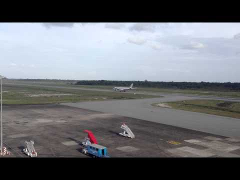 Suriname Airways-A340 Touch and GOat J.A. Pengel Int'l Airport