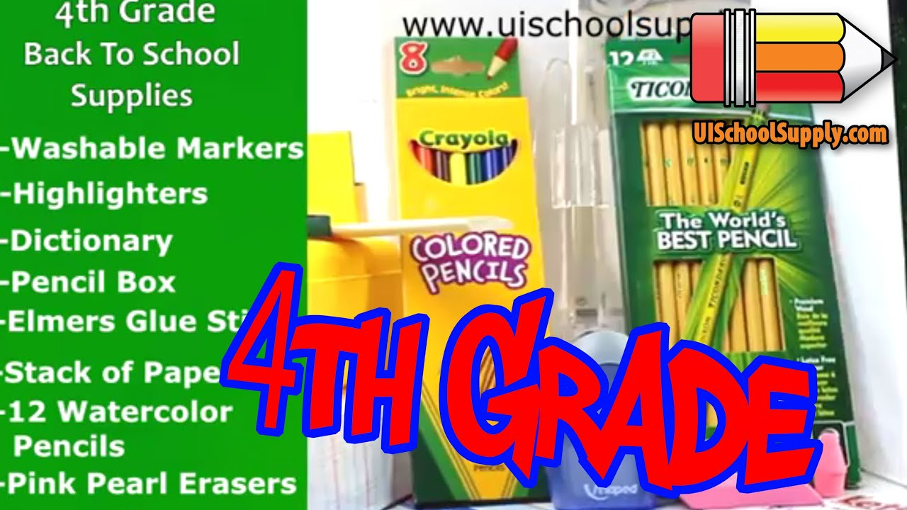 Worksheet 4rth Grade 4th grade back to school supplies check list youtube list