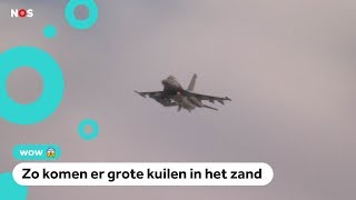 Oefening met nep-bommen boven Vlieland